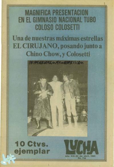 24 ABRIL 1985