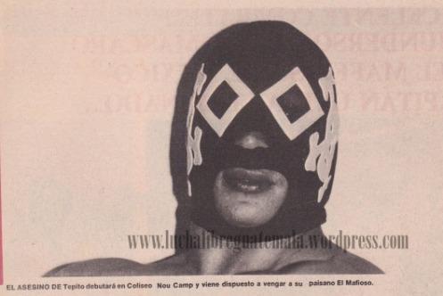 Asesino de Tepito mascara