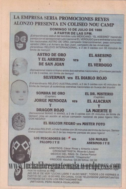 Cartel Presentación Asesino de Tepito